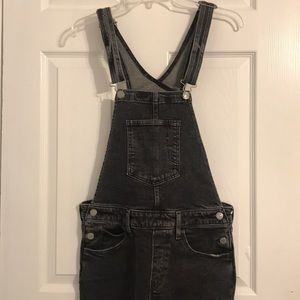 Levi's black washed overalls